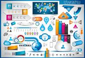 stock photo of globe  - Infographic elements  - JPG