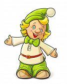 Little gnome menino vetor ilustração isolado no fundo branco EPS10. OPA e objetos transparentes