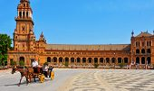 SEVILLE, SPAIN - MAY 17: View of Plaza de Espana on May 17, 2012 in Seville, Spain. Plaza de Espana