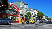 SAN FRANCISCO, US - OCTOBER, 19: Colorful stores in Haight Street on October 19, 2011 in San Francis