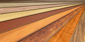 stock photo of laminate  - wooden laminated construction planks - JPG