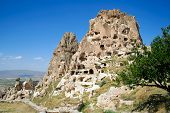 stock photo of phallus  - amazing view of Uchisar castle in Cappadocia - JPG