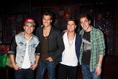 LOS ANGELES - APR 1:  Big Time Rush at the Big Time Rush and Victoria Justice