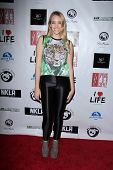 LOS ANGELES - APR 2:  Apphia Castillo arrives at  the No Kill L.A. Charity Event at the Fred Segal o