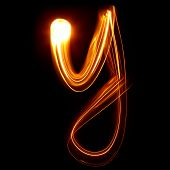 Y - Created by light lowercase letters