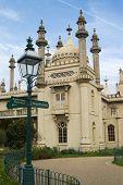stock photo of saracen  - Detail of Brighton Pavilion against a nice blue sky - JPG