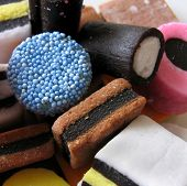 Liquorice Sweets Closeup