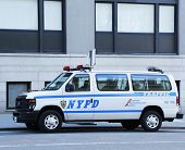 NYPD traffic control van in Manhattan