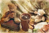 Two Toy Bear-cub And Cup