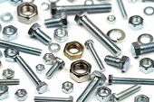 Various bolts, nuts, and washers .