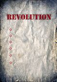 Vintage background, revolution poster