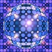 Blue shining vector disco ball