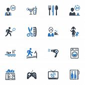 stock photo of babysitting  - This set contains 16 hotel services and facilities icons that can be used for designing and developing websites - JPG