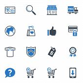 Shopping and E-commerce Icons Set 2 - Blue Series