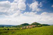 Landscape with castle Leuchtenburg