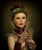 Steampunk Fashion Girl 3D Cg