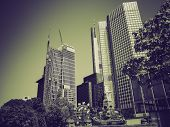 Vintage Sepia European Central Bank In Frankfurt