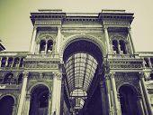 Vintage Sepia Galleria Vittorio Emanuele Ii, Milan