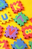 picture of kiddy  - Kiddies style Colored Alphabet and number blocks - JPG