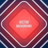 Vector Geometric Background. Neon lights. Grunge background