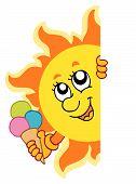 Lurking Sun With Icecream