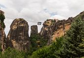 Cable Car Between Monasteries Meteora