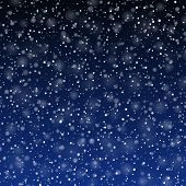 Falling snow background. Vector.