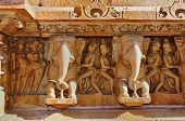 Sculptures At Lakshmana Temple, Khajuraho, India - Unesco World Heritage Site.