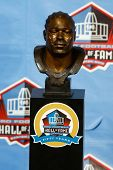 CANTON, OH-AUG 3: The bust of former Tampa Bay Buccaneers defensive tackle Warren Sapp on display at