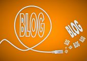 Illustration Of A Fresh Blog Symbol Formed By An Cable