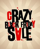 stock photo of friday  - Black friday sale crazy banner - JPG