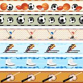 Seamless sports patterns