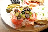 picture of deli  - Delicious Deli Sandwiches with Lots of Meat and Veggies - JPG