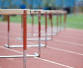 Hurdles On The Track