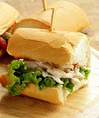 panini sandwich with chicken