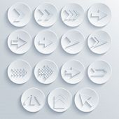 Vector Arrow Circle Icon Set.