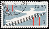 Cuba Stamp, First National Sport Games