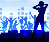 Music dj, night party background