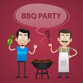 picture of bbq party  - Illustration - JPG