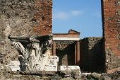 Ruins Of A Temple - Pompeii - Italy