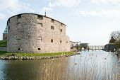 Detail of Kalmar castle in the south eastern Sweden