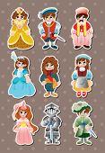 Cartoon Medieval People Stickers