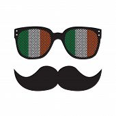 Irish man with glasses and moustache