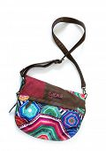 MOSCOW - APRIL 25, 2014: Women's bag Desigual. Desigual  is a casual clothing brand based in Barcelo