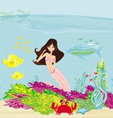 Illustration Of A Beautiful Mermaid