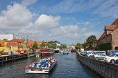 COPENHAGEN, DENMARK-CIRCA July 2013:Canal Cruise along Nyhavn in Copenhagen