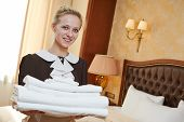 stock photo of housekeeper  - Hotel service - JPG
