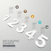Vector White Peper Number Infographic Elements