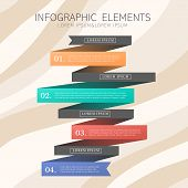 Creative Ribbon Infographics Design