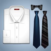 Vector white shirt and ties